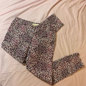 Michael Kors pink cheetah print pants